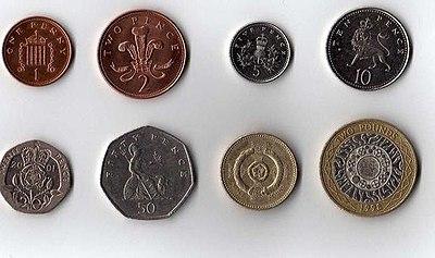 Bộ tiền xu của Vương quốc Anh
