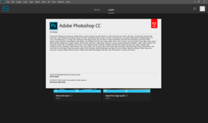 Adobe Photoshop CC 2018 (19.0) chạy trên Windows