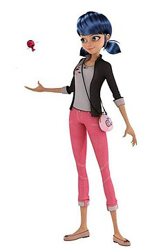 The female protagonist of the series Miraculous: Tales of Ladybug & Cat Noir