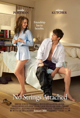 the characters, getting dressed in a bedroom and smiling at each other.