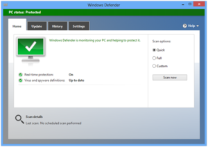 Windows Defender trên Windows 10