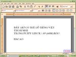 Hacao 1.06 gõ và hiển thị tiếng Việt trong abiword với x-unikey
