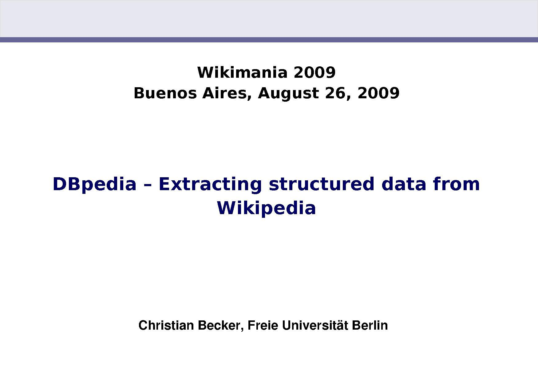 DBpedia-Wikimania2009.pdf