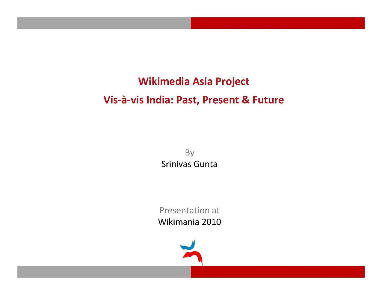 These were the slides Srinivas Gunta used at the presentation