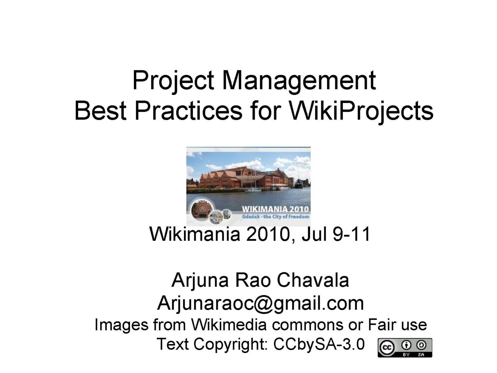 Project Management best practices for WikiProjects.pdf