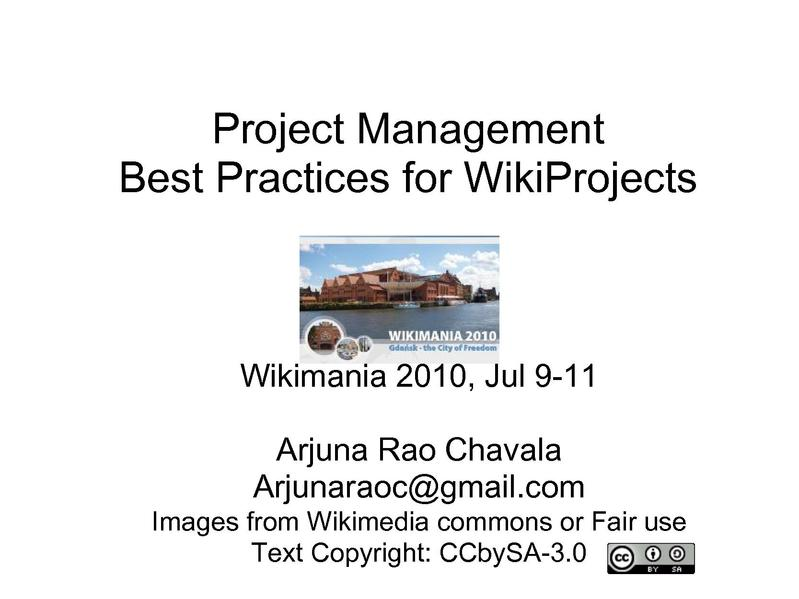 File:Project Management best practices for WikiProjects.pdf