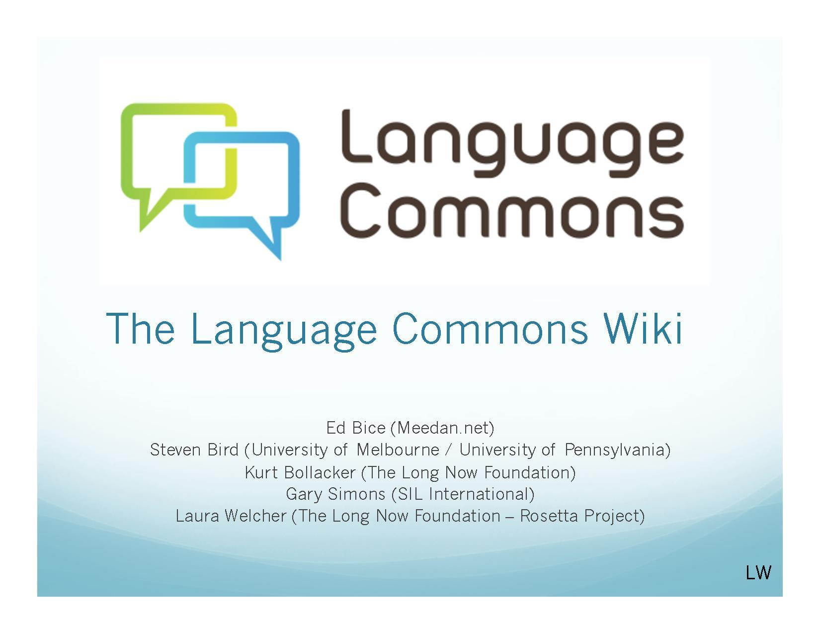 Language Commons Wiki Wikimania 2010.pdf