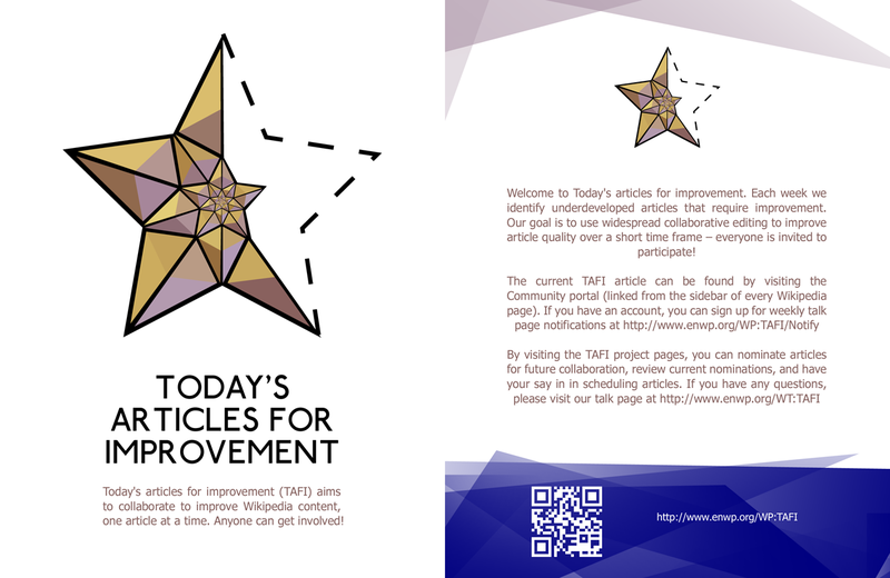 Today's articles for improvement Leaflet front copy.png