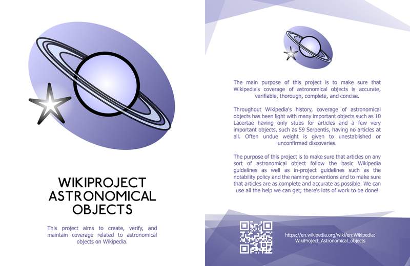 WikiProject Astronomical objects Leaflet front copy.png