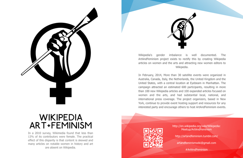 Wikipedia art and Feminism Leaflet front copy.png