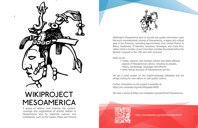 WikiProject Mesoamerica leaflet front copy.png
