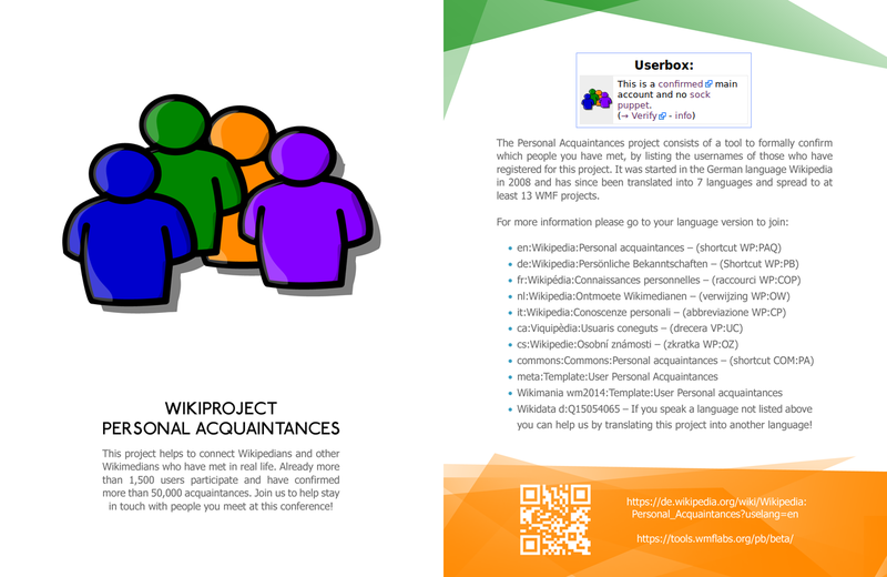 WikiProject Personal Acquaintances leaflet front copy.png
