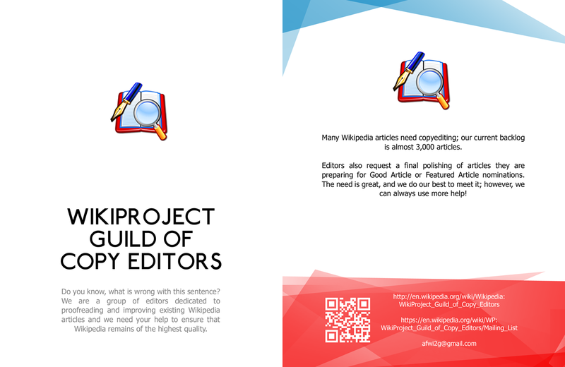 WikiProject Guild of Copy Editors Leaflet front copy.png