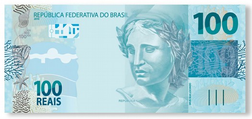 100 reais banknote of the latest series,announced February 2010[1]
