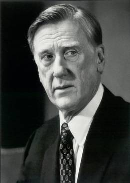 "Donald Moffat as a corrupt president of the United States in ""Clear and Present Danger"""