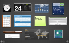 在OS X Mountain Lion中執行Dashboard和widgets