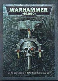 戰鎚40000第四版規則書的封面