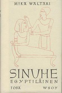 Sinuhe egyptiläinen (First Finnish edition cover).jpg