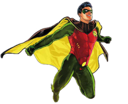 Dick Grayson as Robin. Art by Mikel Janín.