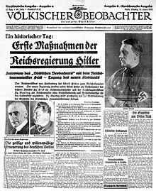 德国纳粹_人民观察家报 - 维基百科,自由的百科全书