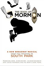 Poster of the Broadway 2010 musical The Book of Mormon.jpg