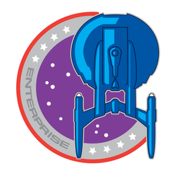 Crew patch for the Enterprise.