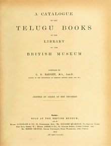 A catalogue of the Telugu Books in the Library of the British Museum.djvu
