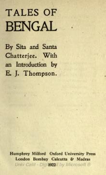 Tales of Bengal (Sita and Santa Chattopadhyay).djvu