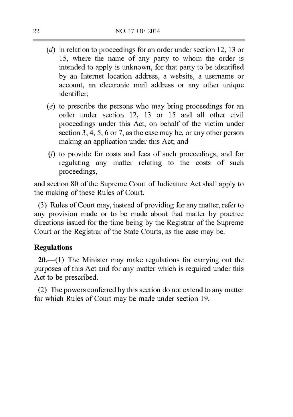 Page:Protection from Harassment Act 2014.pdf/22 ...
