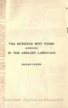 The Hundred Best Poems (lyrical) in the English language - second series.djvu
