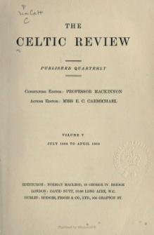 The Celtic Review volume 5.djvu