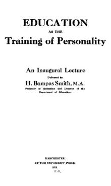 Education as the Training of Personality.djvu