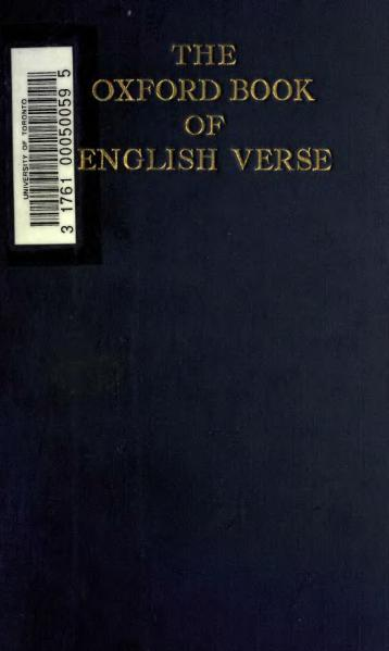 File:Oxford Book of English Verse 1250-1900.djvu
