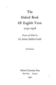 Oxford Book of English Verse 1250-1918.djvu