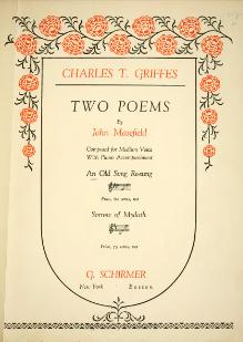 Two poems by John Masefield - Griffes.djvu