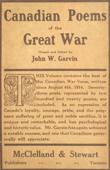 File:Canadian poems of the great war.djvu