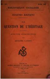 Rignano, La question de l'héritage, 1905.djvu