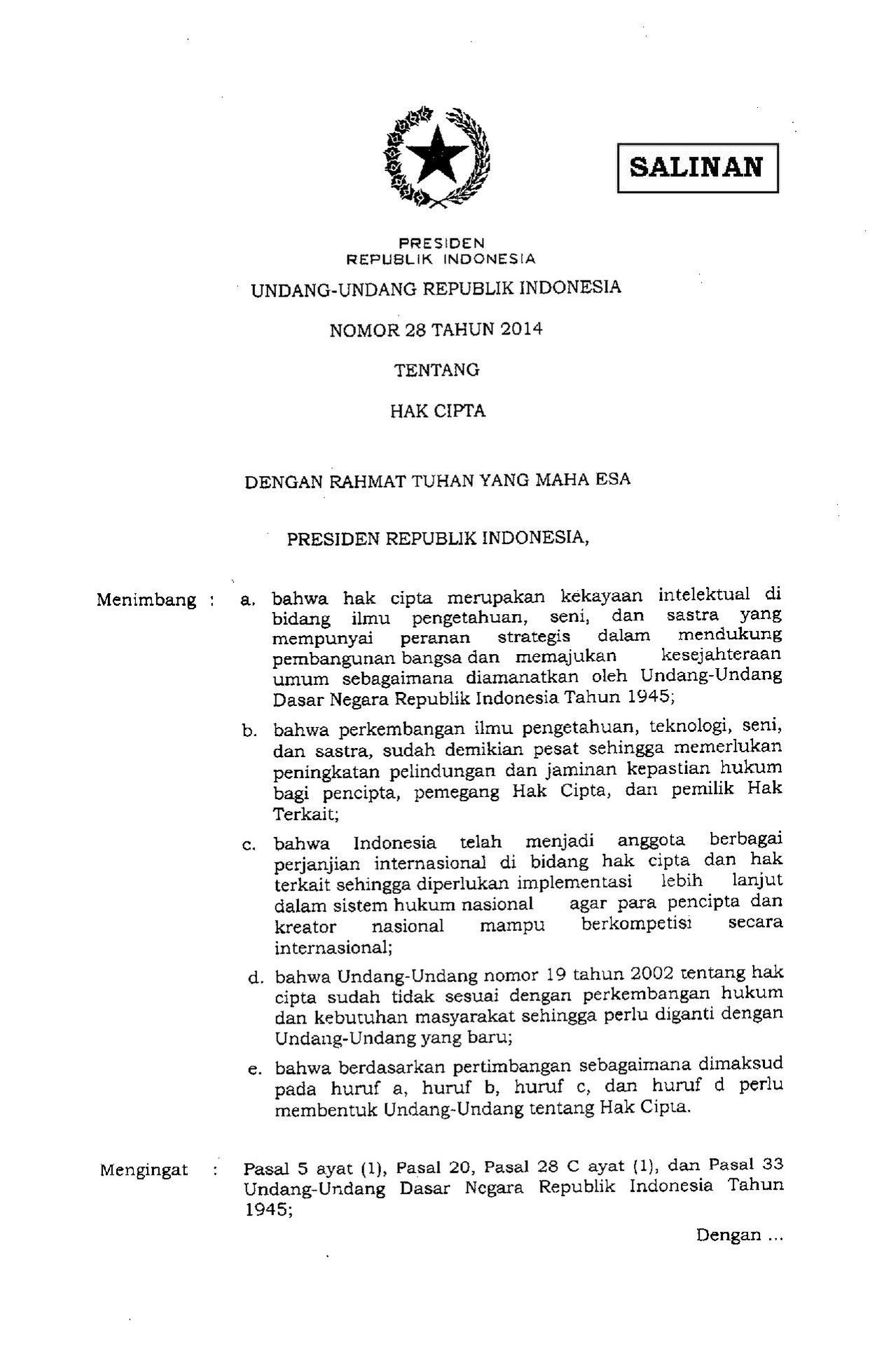 Halaman:UU 28 2014 pdf/1 - Wikisource bahasa Indonesia