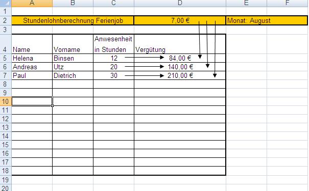 Projekt:Tabellenkalkulation – Wikiversity