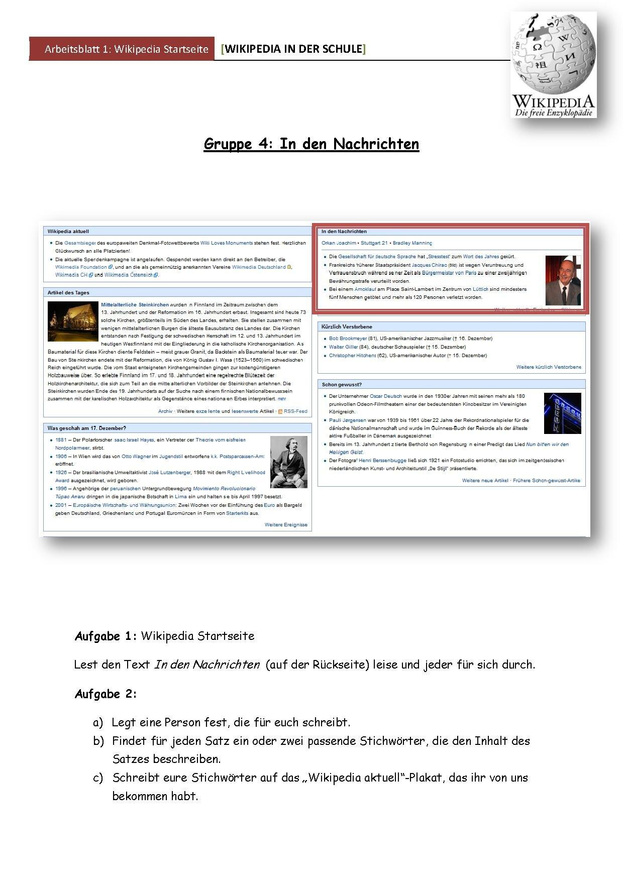 Datei:Arbeitsblatt Startseite In den Nachrichten.pdf – Wikiversity