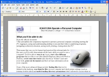 Operating a word processing application - Wikiversity