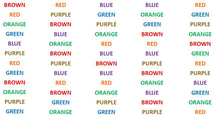 Image Result For Color Words