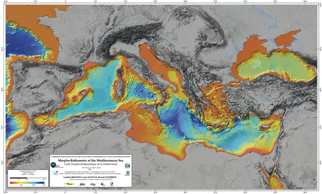 Mediterranean Bathymetric map.png