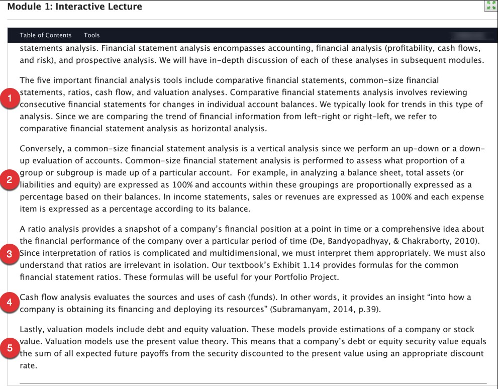 horizontal analysis of comparative financial statements includes