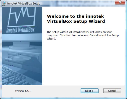 First Screen After Executing the Virtual Box MSI File