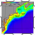 Bathymetry of the NES LME and adjacent offshore waters.png