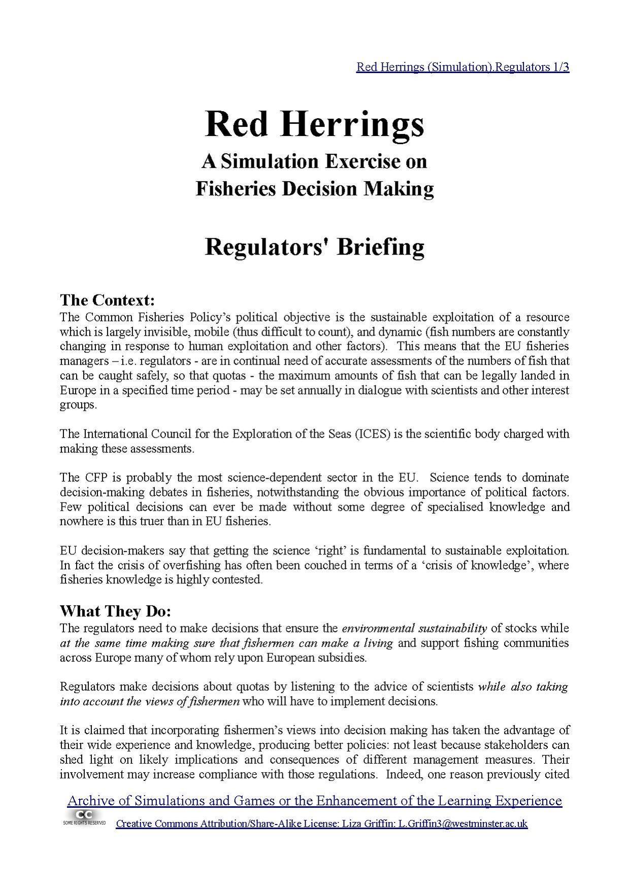 File:Red Herrings (Simulation) Regulators pdf - Wikiversity