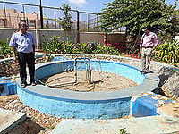 Borewell recharge at the Zila Panchayat Office.jpg