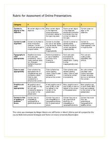instructional design online presentations assessing an online