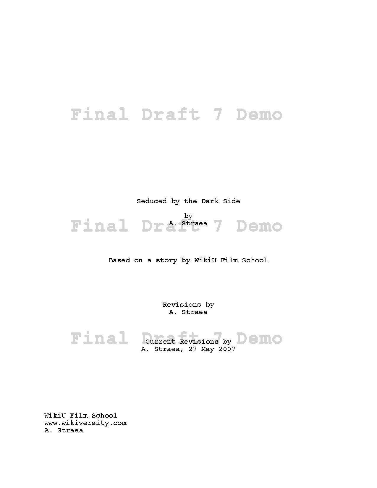 Screenplay Title Page Format Erkalnathandedecker